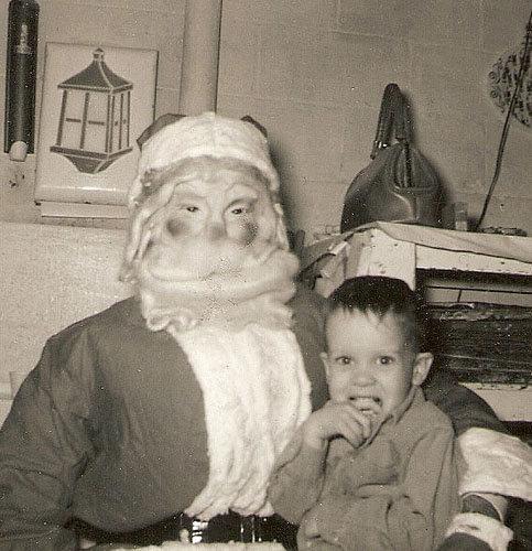 Père Noel qui fait peur