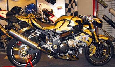 Une customisation réussie pour cette moto