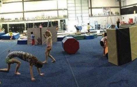 Future championne gymnastique