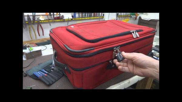 Comment ouvrir une valise avec cadenas mec101 - Comment ranger une valise ...