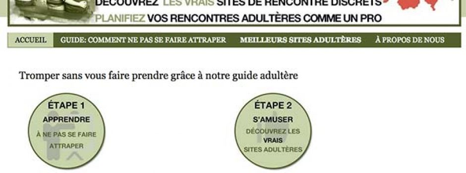 sites adulteres site de rancontre