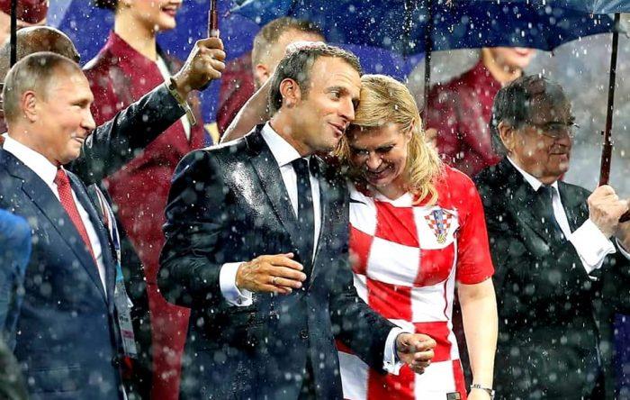 Amour entre Emmanuel Macron et Kolinda Grabar-Kitarović