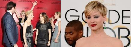 Jennifer Lawrence prise à son propre jeu