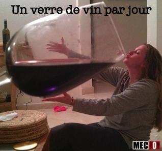 Un seul verre de vin par jour